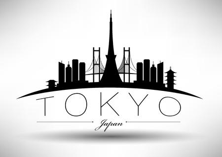 tower: Tokyo City Skyline Design  Illustration