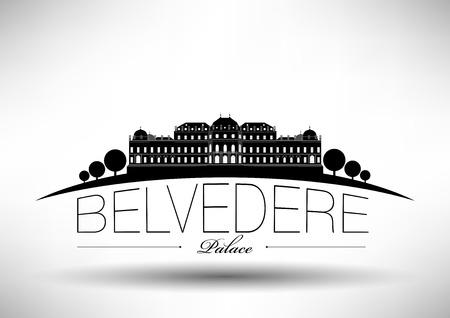Belvedere Palace Skyline Design  Illustration