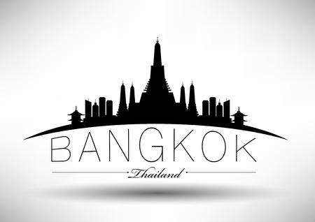 Bangkok City Skyline Design  Vector