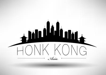 kong: Hong Kong City Skyline Design  Illustration