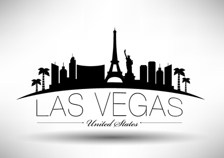 Las Vegas City Skyline Design  Vector