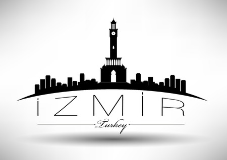 304;zmir City Skyline Design Stock fotó - 27458355