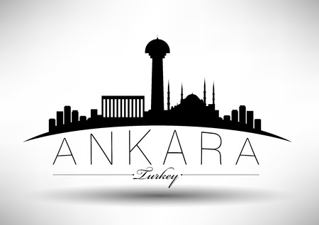 Ankara City Skyline Ontwerp