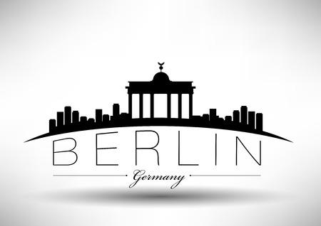 Berlin City Skyline Design  Vector