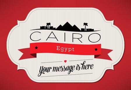 cairo: Cairo City Greeting Card Design Template - Illustration