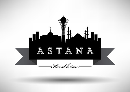 dome type: Astana Skyline with Typography Design