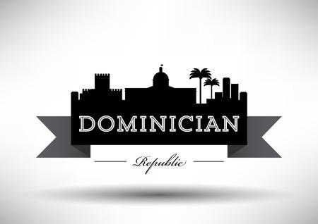 Dominician Republic Skyline with Typography Design Stock fotó - 30412018