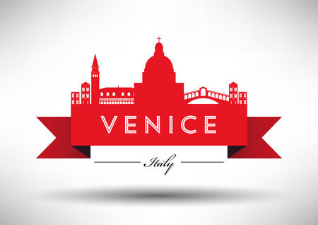 venezia: Venice Skyline with Typography Design