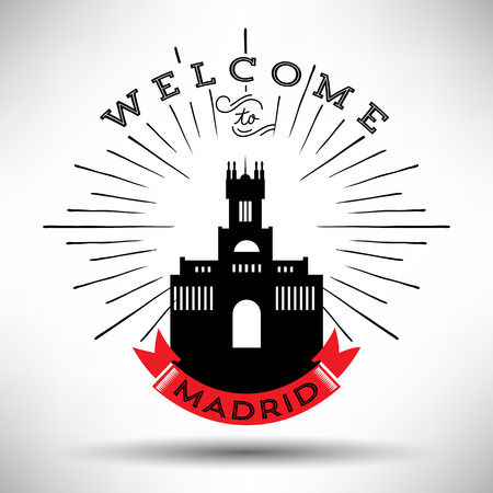 madrid: Madrid with Typography Design