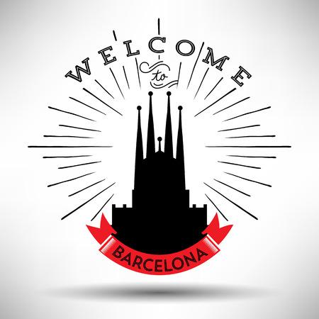barcelona: Barcelona with Typography Design