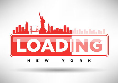 web design bridge: New York Skyline Loading Typographic Design