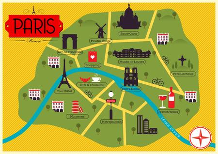 coeur: City Map of Paris, France