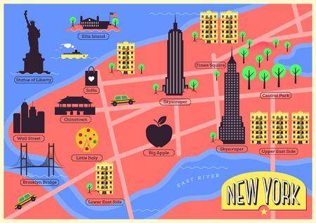 central park: Mapa de la ciudad de Nueva York, Estados Unidos