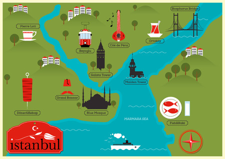 City Map of Istanbul, Turkey
