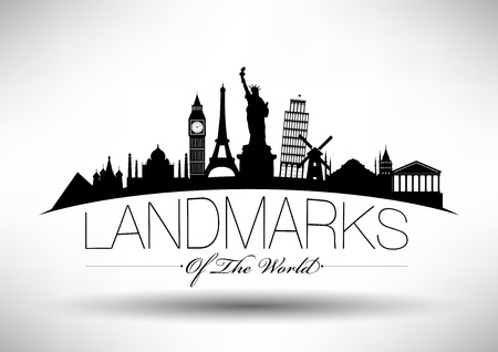 Landmarks of the World Infograpghic Design