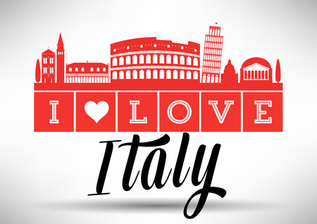 I Love Italy Skyline Design