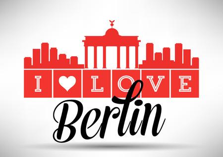 Ik houd van Berlijn Ontwerp van de Horizon