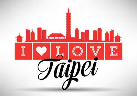 I Love Taipei Skyline Design