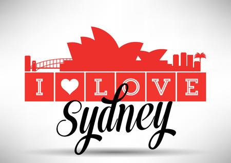 sydney skyline: I Love Sydney Skyline Design