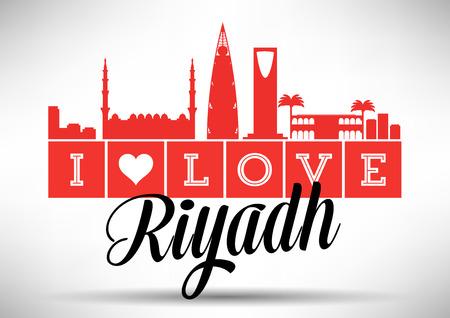 Ik houd van Riyadh Skyline ontwerp