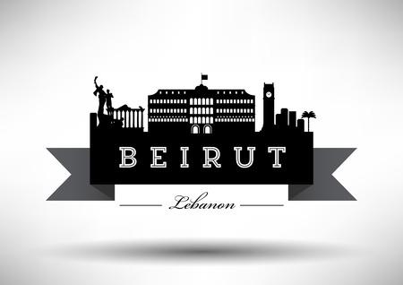 beirut: Beirut Skyline with Typographic Design