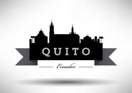 quito: Quito Skyline with Typographic Design