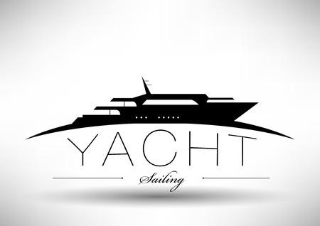 luxury yacht: Easily editable vector file, EPS 10.