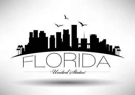 Florida Skyline with Typography Design Stock fotó - 34540666