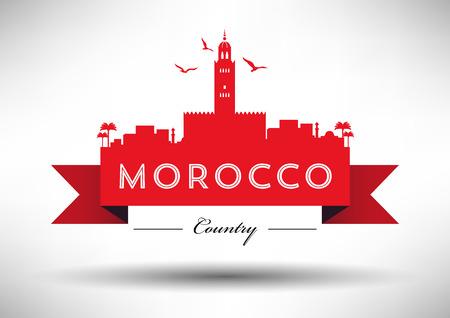 morocco: Morocco Skyline with Typography Design