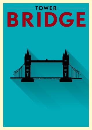 tower bridge: Tower Bridge Poster Illustration