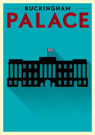 buckingham palace: Buckingham Palace Vector Illustration