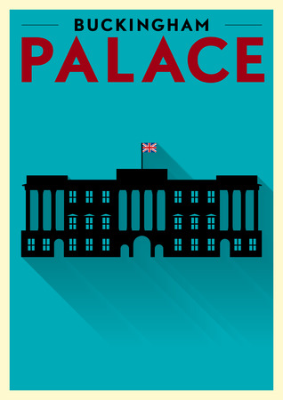 Buckingham Palace Vector Illustration