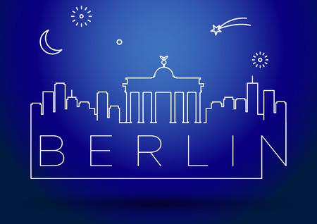 Berlin City Line Silhouet Typografische Vormgeving