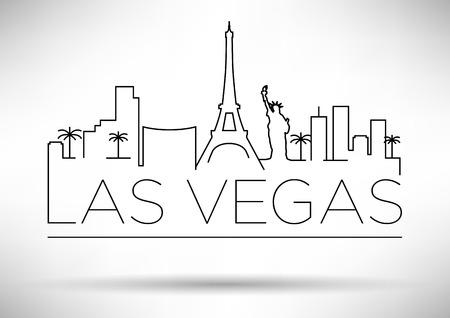 Las Vegas City Line Silhouette typografische ontwerp