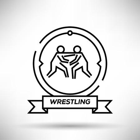 wrest: Wrestling Sport Stroke Icon