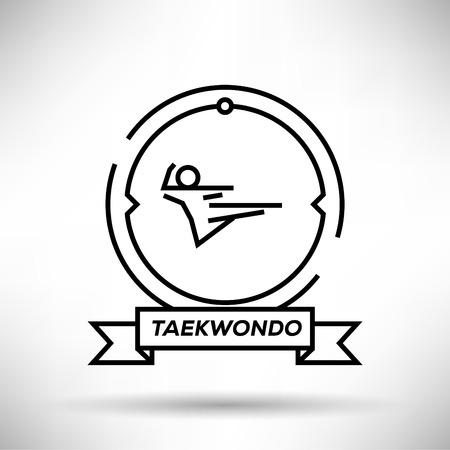 fareast: Taekwondo Sport Stroke Icon