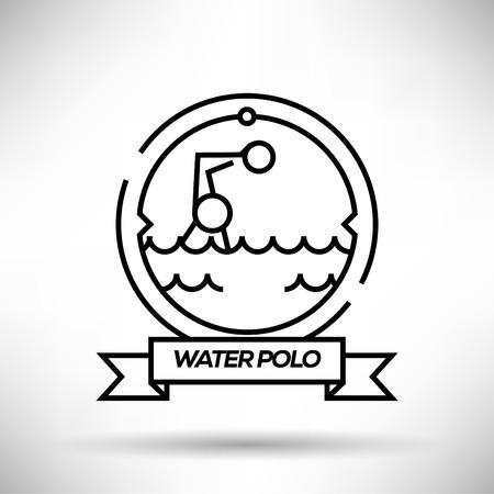 polo sport: Water Polo Sport Stroke Icon