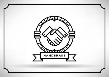 handshaking: Linear Vector of Handshaking Icon Design