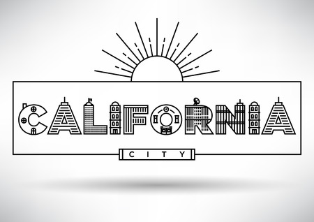 house under construction: California City Typography Design with Building Letters