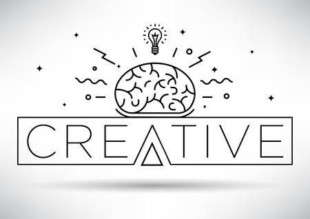 creative idea: Creative Idea Linear Vector Illustration