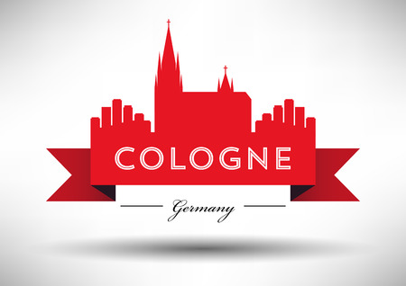cologne: Cologne Skyline with Typographic Design