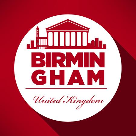 birmingham: Birmingham Skyline with Typography Design