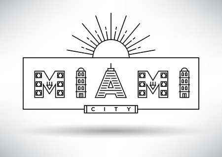 house under construction: Miami City Typography Design with Building Letters