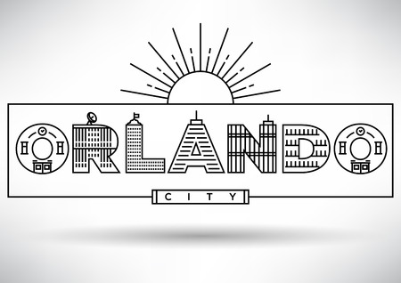 house under construction: Orlando City Typography Design with Building Letters