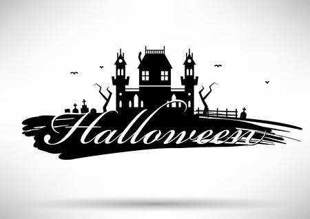 typographic: Typographic Halloween Vector Design Illustration