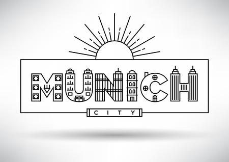 m�nchen: Munich City Typografie Design met Building Brieven