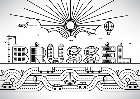 brussel: Brussel City Typography Design with Building Letters Illustration
