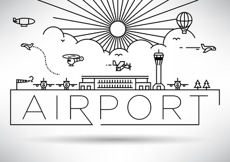 Airport Linear Vector Illustration Stock fotó - 46245744