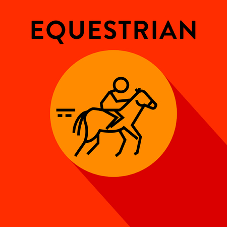 equestrian: Modern Equestrian Icon with Linear Style