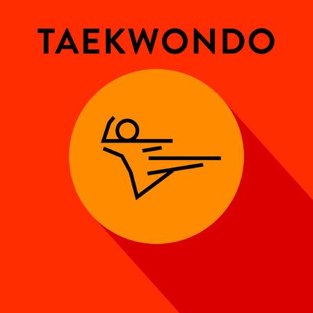 fareast: Modern Taekwondo Icon with Linear Style